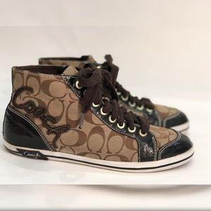 COACH Brendi canvas sneakers brown Sz 8